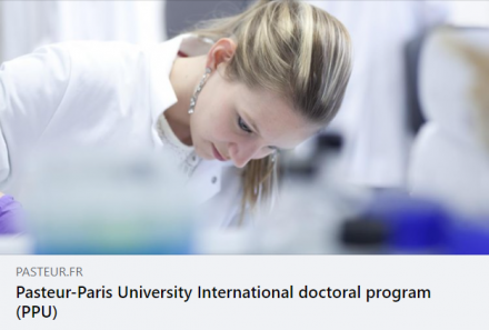 Call is now open for the Pasteur – Paris University International Doctoral program, for students beginning in October 2021.